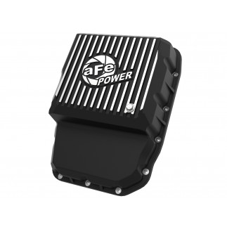aFe POWER Pro Series Transmission Pan Black w/ Machined Fins