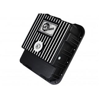 aFe POWER Pro Series Transmission Pan Black w/ Machined Fins