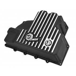 aFe POWER Pro Series Engine Oil Pan Black w/ Machined Fins