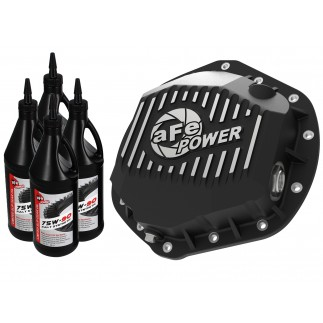 Pro Series Rear Differential Cover Black w/ Machined Fins & Gear Oil