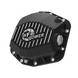 Pro Series Rear Differential Cover Black w/ Machined Fins