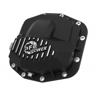 Pro Series Front Differential Cover Black w/ Machined Fins