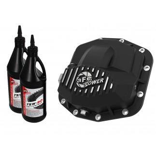 Pro Series Front Differential Cover Black w/ Machined Fins & Gear Oil