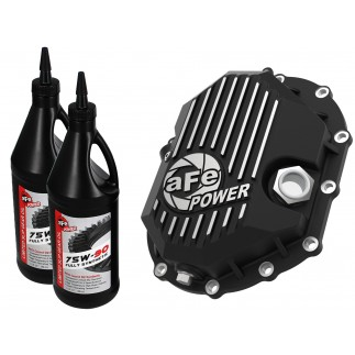 Pro Series Front Differential Cover Black w/Machined Fins & Gear Oil