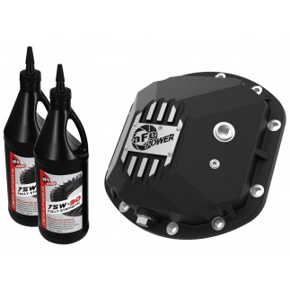 Street Series Front Differential Cover Black w/ Machined Fins & Gear Oil