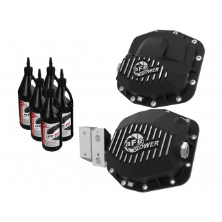 Pro Series Front & Rear Differential Covers - Machined Fins w/ Gear Oil