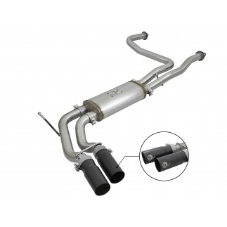 Rebel Series 2-1/2 IN 409 Stainless Steel Cat-Back Exhaust System