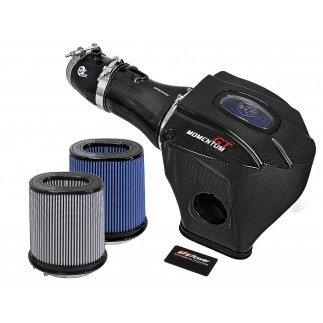Black Series Momentum Carbon Fiber Cold Air Intake System w/Dual Filter Media