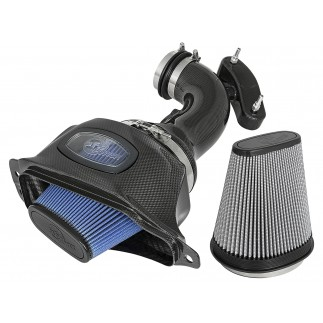 Black Series Momentum Carbon Fiber Cold Air Intake System w/Dual Filter Media
