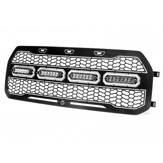 Scorpion Complete Replacement Grille Tread Design Black w/ LED Lights