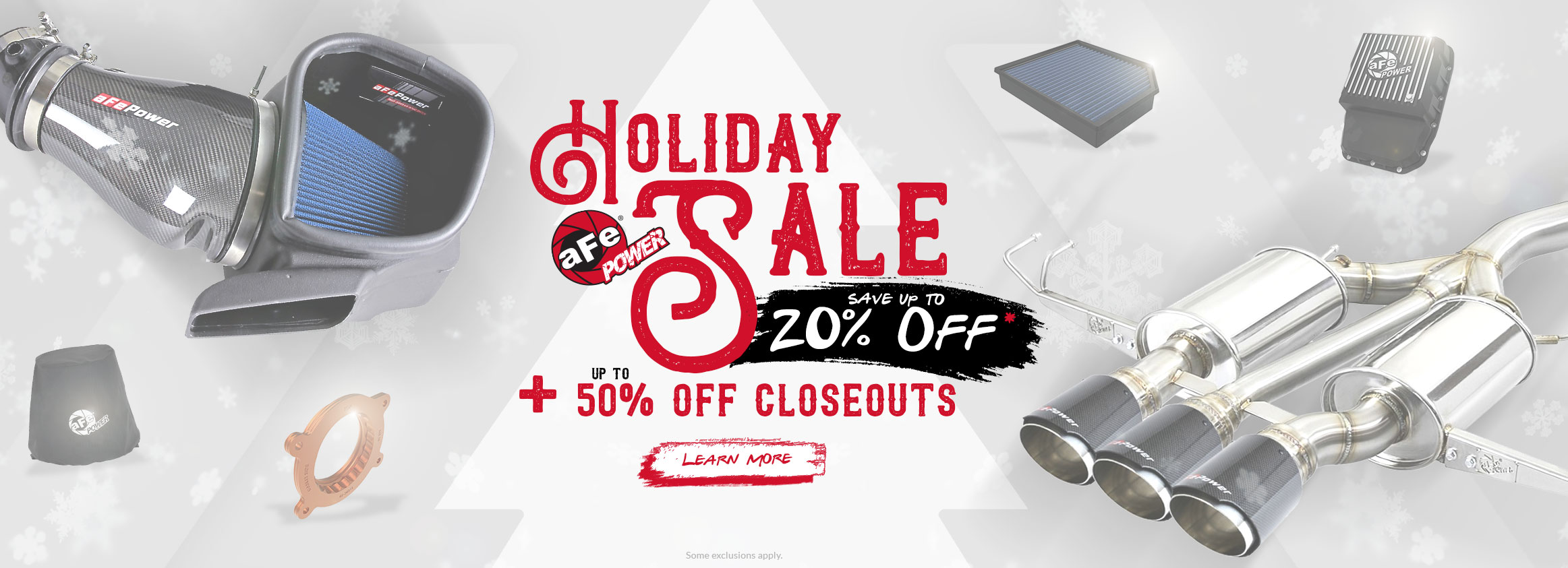 Our Holiday Sale Starts Now! - Up To 20% OFF + 50% OFF Closeouts!