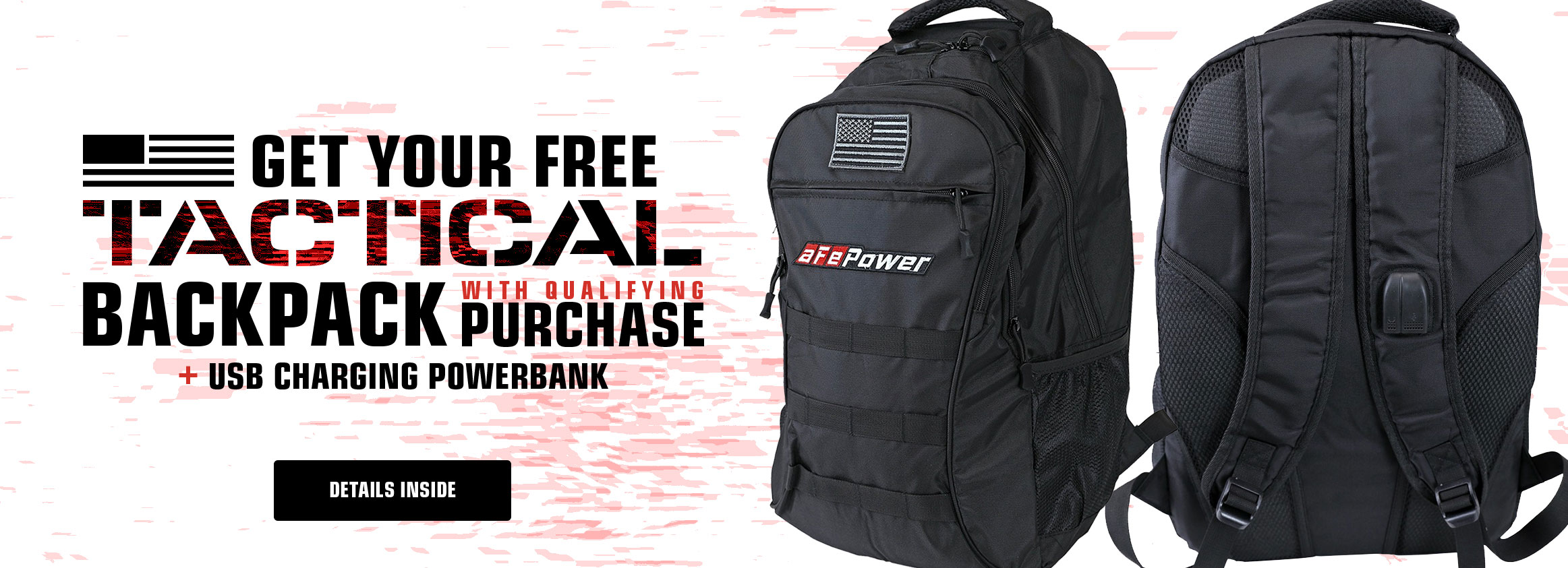 Backpack + Powerbank Promotion