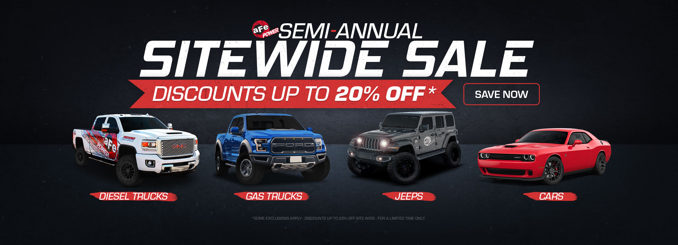 Semi-Annual Sale Starts Now!