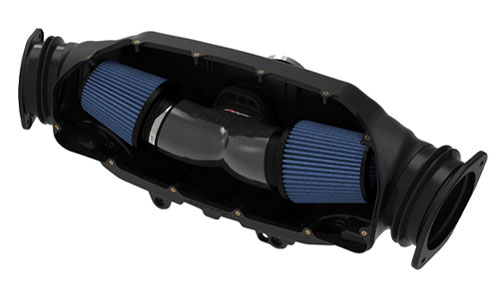 Black Series Carbon Fiber Cold Air Intake System 2020 C8 Corvette LT2 - Tilted View