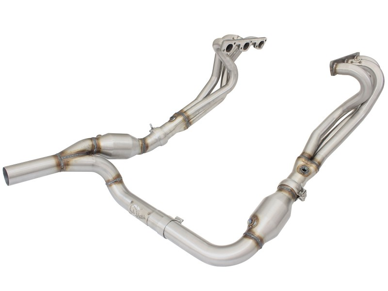 Jeep wrangler 2007-2011 3.8 v6 headers and y pipe.