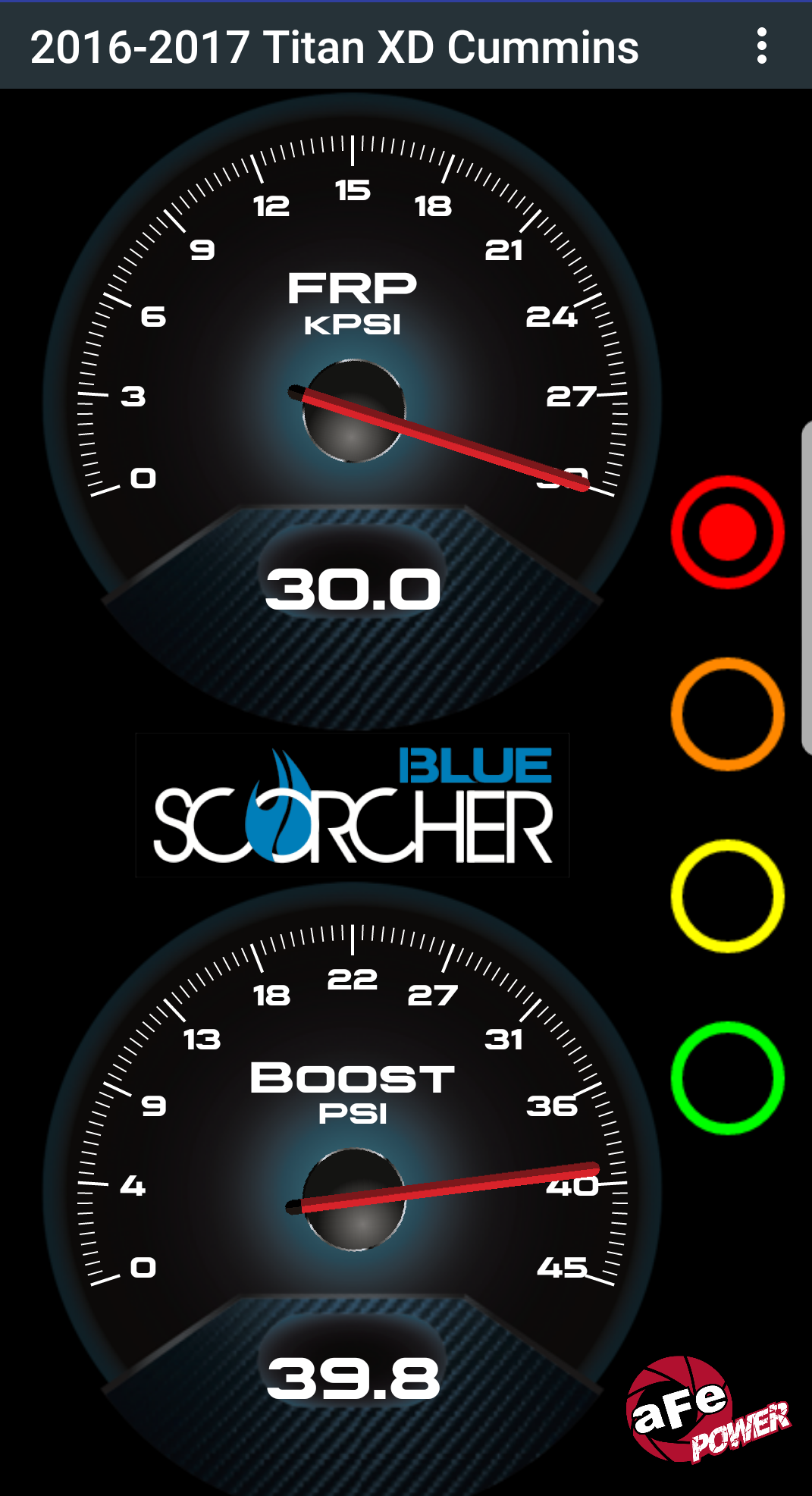 Scorcher Blue Gauges