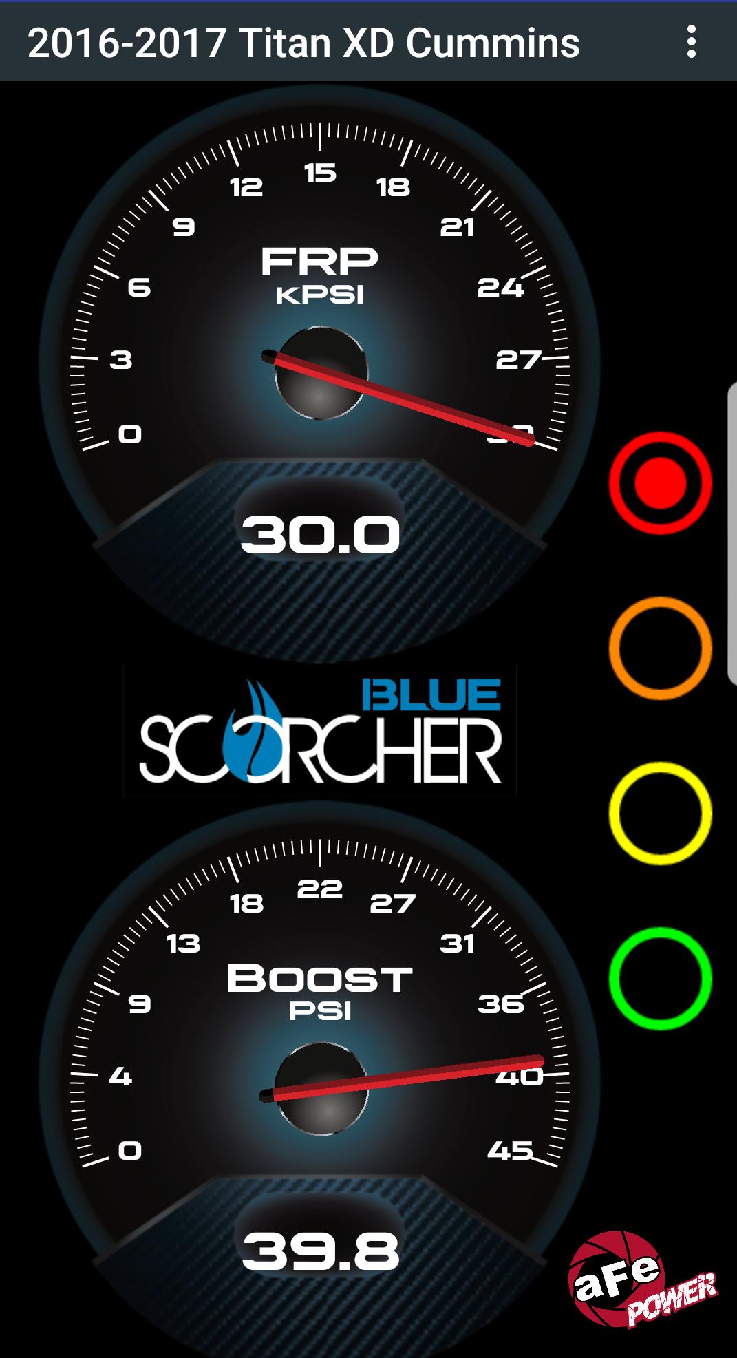 Scorcher Blue Gauges