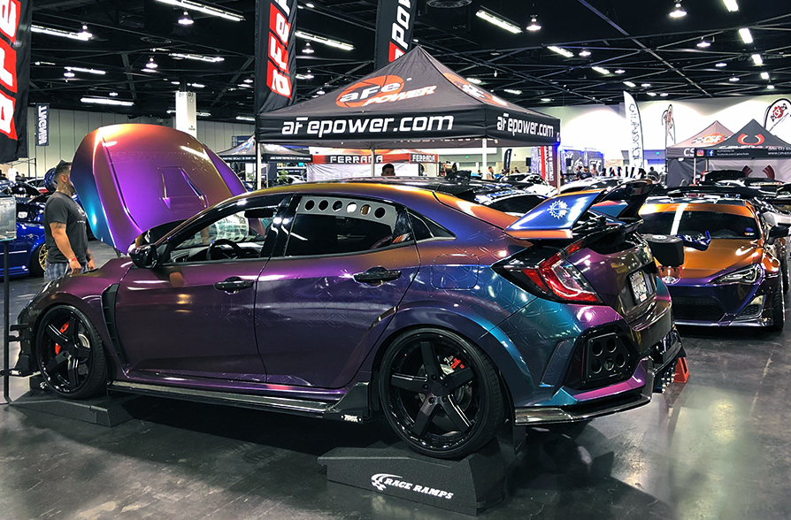 SPOCOM_Anahiem_aFe_POWER_Booth_Honda_Civic_Type_R