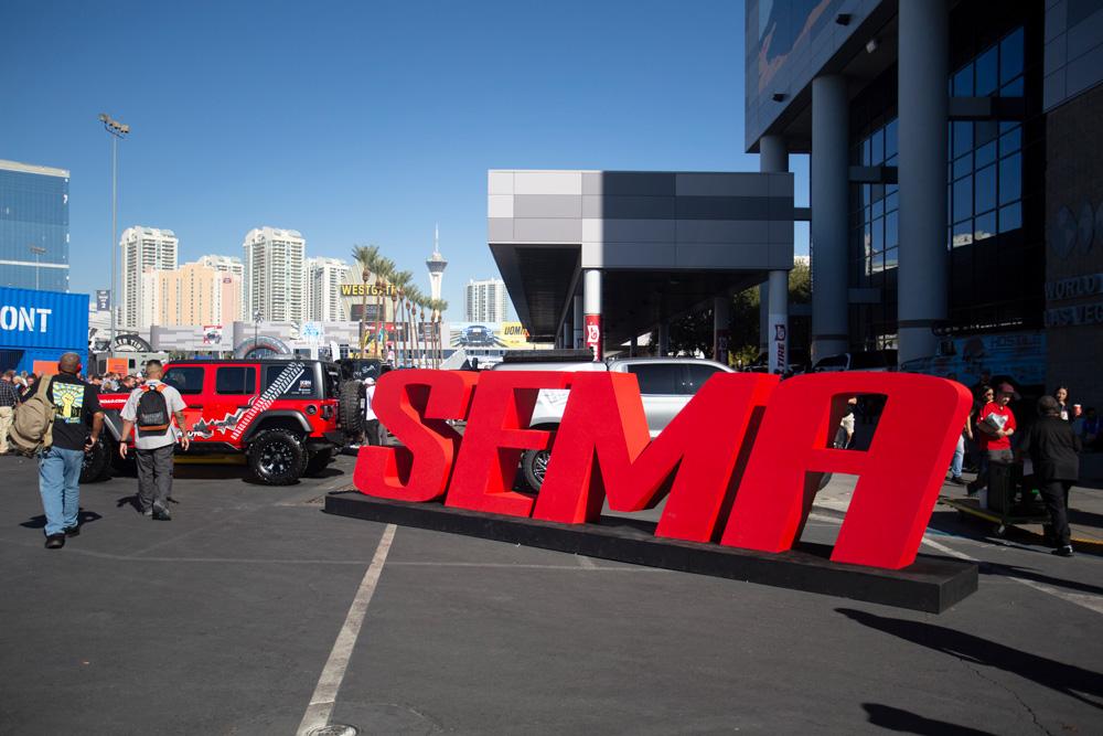 SEMA Show sign